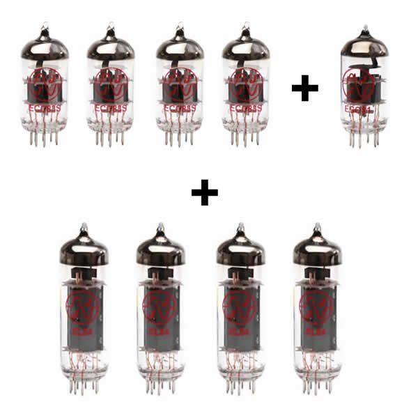 4x ECC83 + 1x ECC81 + 4x EL84 Gematchte valve kit