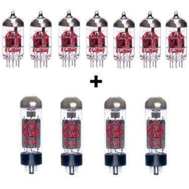 Röhren Set Für Röhrenverstärker Marshall 6100 (6 X Ecc83 1 X Symmetrische Ecc83 4 X Gematchte El34)